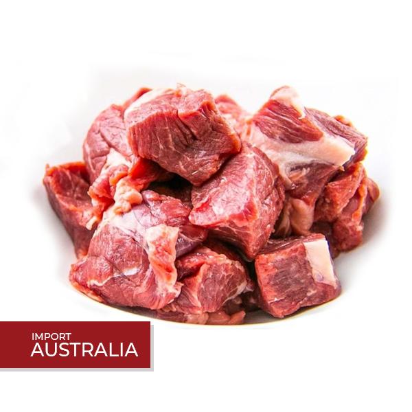 kiub daging paha lembu australia 500g