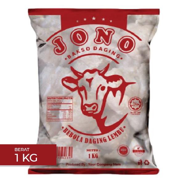 bakso daging lembu frozen jono 1kg